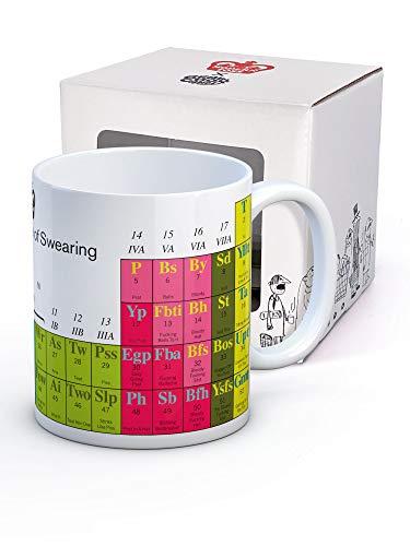 Brainbox Candy - Taza de café con texto en inglés 'Modern Toss Periodic Table of Juring, en caja de regalo, regalo de Navidad o cumpleaños para él y ella