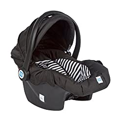 Mee Mee Baby Car Seat cum Carry Cot with Thick Cushioned Seat (Black),Me n Moms,MM-806B_Black