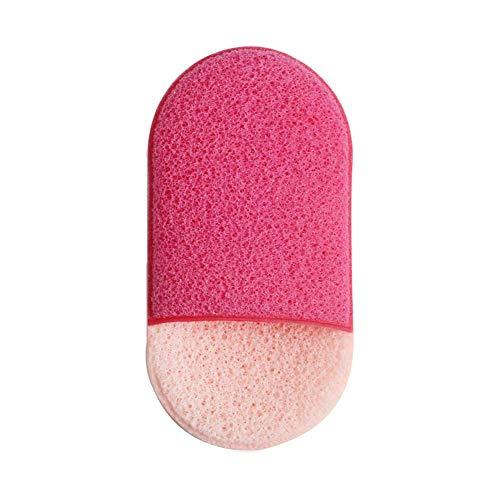 GanYu Éponge de maquillage ovale Applicateur de peinture visage éponge mousse latex fond de teint éponge cosmétique éponge de maquillage doux lavage visage éponge éponge, Pink Fight Red, 11.2*6.2*2cm