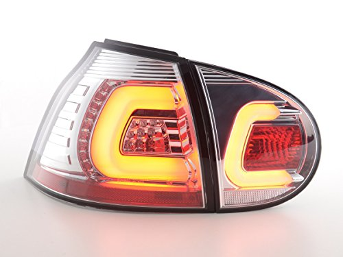 FK Automotive FKRLXLVW13039 Feux arrière LED, Chromée