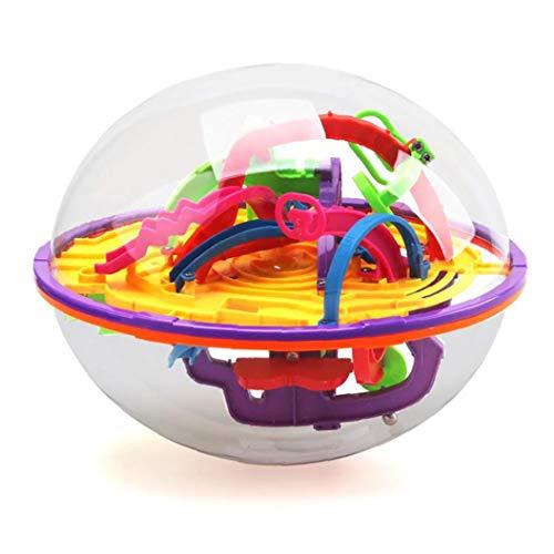 OMMO LEBEINDR Juego 1pc Intelecto Laberinto 3D Bola Juguetes Independiente Regalo para Los Niños Que Contienen Diferentes Obstáculos Desafiantes Cosas Útiles
