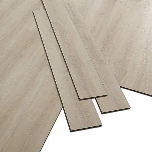 ARTENS - PVC Bodenbelag - Click Vinylboden- Holz-Effekt - Beige - 1,1m²/5 Dielen
