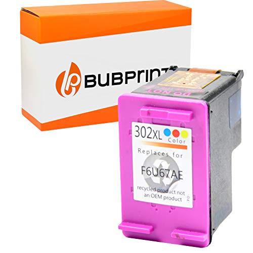 Bubprint Tintenpatrone kompatibel für HP 302 302XL DeskJet 3636 2130 3630 1110 Envy 4525 4520 OfficeJet 3831 3830 4655 Multifunktionsdrucker