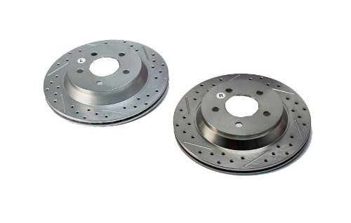 BAER 54036-020 Sport Rotors Slotted Drilled Zinc Plated Rear Brake Rotor Set - Pair