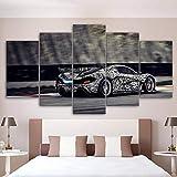 33Tdfc Regalo Creativo 5 Piezas Cuadros Decoracion Salon Modernos Arte De La Pared 150X80Cm Marco Póster/Lamborghini/Decoración del Hogar
