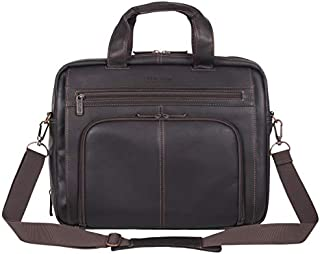 Kenneth Cole Reaction Colombian Leather RFID Briefcase - Fits 15.6