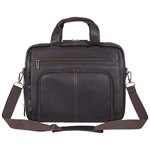 Shoulder Strap included Inside the bag. Full-grain genuine Colombian leather: this business savvy laptop business case is made of a luxurious cowhide Colombian leather that is very durable and ages beautifully, creating a bag that is uniquely your ow...