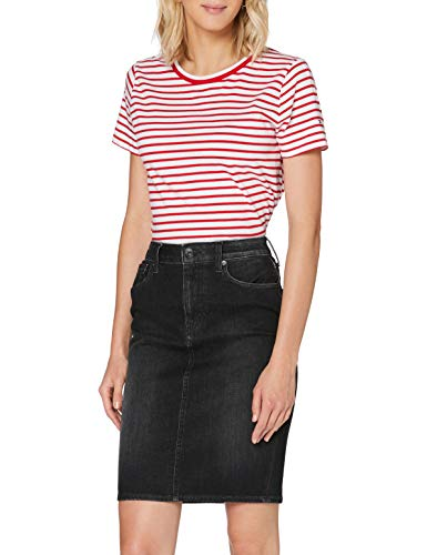 Tommy Jeans High Waist Denim Skirt Dyabk Jupe, Bleu (Dynamic Avery Black 1by), Unique (Taille Fabricant: NI26) Femme