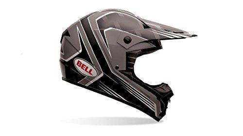 Bell Powersports SX-1 Motorradhelm, Mehrfarbig (Race Schwarz), XXL