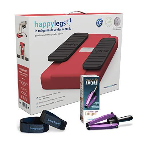 Oferta Pack: Happylegs® Rojo + Manos Sanas + Correas. La autentica máquina de andar sentado®. ÚNICA fabricada en España. La más rápida y silenciosa. CE