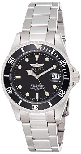 Invicta Men's 8932OB Pro Diver Analog Quartz Silver; Dial color - Black Stainless Steel Watch
