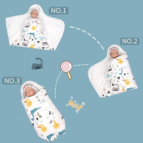 DEEYOTA 赤ちゃん おくるみ ベビー寝袋 ベビー向け 100%コットン 夜泣き防止 奇跡のおくるみ ベビーブランケット 新生児用 フード 保温 新生児 出産準備・出産祝い・ベビーグッズ 星空