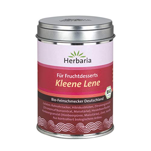 Herbaria Kleene Lene - Gewürz für Fruchtdesserts und Grütze, 1er Pack (1 x 110 g) - Bio