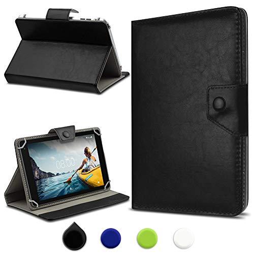 UC-Express Tablet Tasche kompatibel für Medion Lifetab E10702 (MD61614) Hülle Case Cover Schutzhülle Universal Tablettasche Standfunktion, Farbe:Schwarz