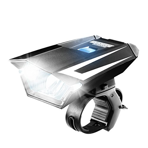 ENHANCE NIGHTLUX BLM Headlight Bike Mount with Weather Proof Exterior and Multiple Light Settings - Works with Schwinn , Northwoods , Diamondback and More Bicycles by Accessory Power