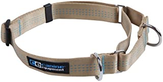 Canine Equipment Technika 1-Inch Webbing Martingale Dog Collar, Large, Tan