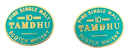Emblems-gifts Tamdhu Malz Scotch Whisky Emaille Verziert Manschettenknöpfe (N95) + Geschenktüte