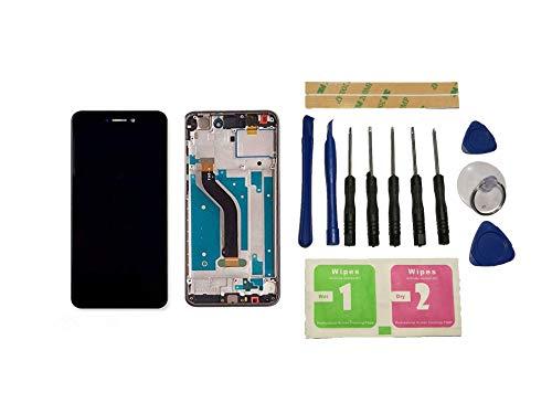 Flügel für Huawei P8 Lite 2017 PRA-LA1/LX1/LX3 Display LCD Ersatzdisplay Schwarz Touchscreen Digitizer Bildschirm Glas Komplett Einheit mit Rahmen Ersatzteile & Werkzeuge & Kleber
