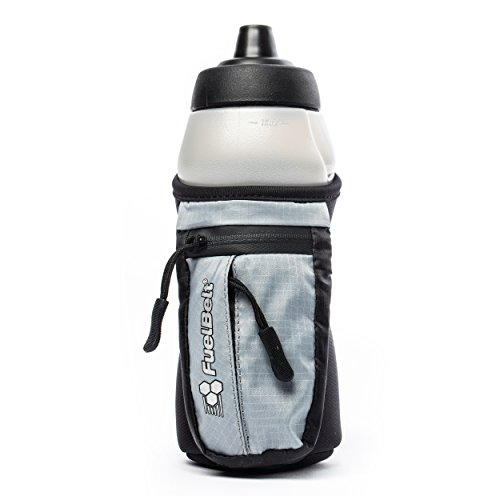 FuelBelt Enduro Fuel Hand-Held Running Water Bottle with Storage Pouch, 16 oz