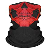 Fresion Soft Scarf Bandana - Ear Loops Face Neck Bandana for Dust-proof, Outdoors, Biking, Sports Activities (Red)