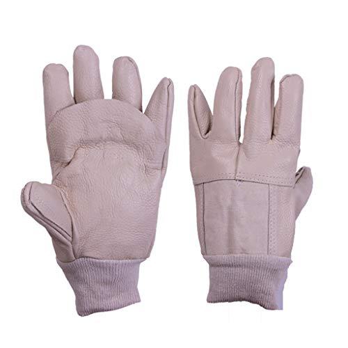 NYSCJJJ Handschuh Premium Kuh Split Leder Schweißhandschuhe für Ofen/Grill/Kamin/Herd/Topflappen/Tig Welder/BBQ