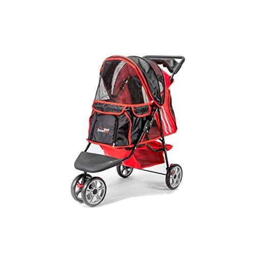 Innopet® Hundebuggy Hundewagen Kinderwagen für Hunde rot schwarz klassisch Pet Stroller Modell All Terrain Hundekinderwagen Katzenbuggy