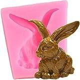 Moldes de Silicona de Conejo de Orejas largas Magdalena de Pascua Topper Fondant Torta Decoración Herramientas Candy Resin Clay Chocolate Gumpaste Moldes