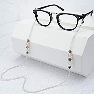 Luxury Acrylic Beads Imitation Pearl String Chain Eyeglasses Chain Elegant Sunglasses Strap Cord Holder Neck Accessories,Clear