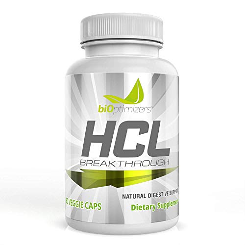 HCL Breakthrough - Acid Reflux Supplement - Natural Source of Betaine Hydrochloride (HCI) - 100% Vegetarian, No Pepsin (90 Capsules)