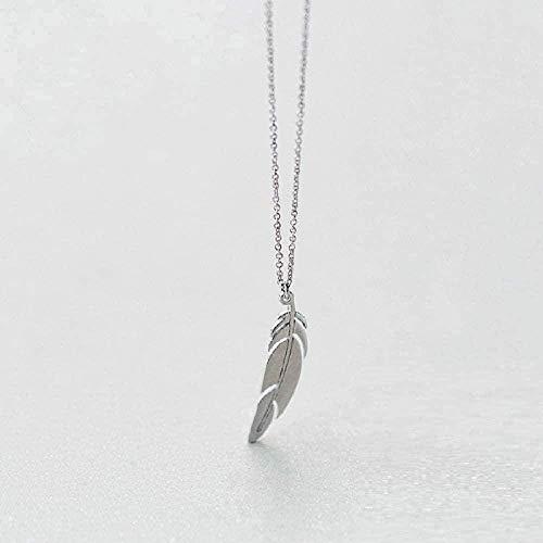 Yiffshunl Collar Collar Collar Elegante Colgante de Plumas Collar Accesorios Damas Joyería Fina Fiesta de cumpleaños Regalo