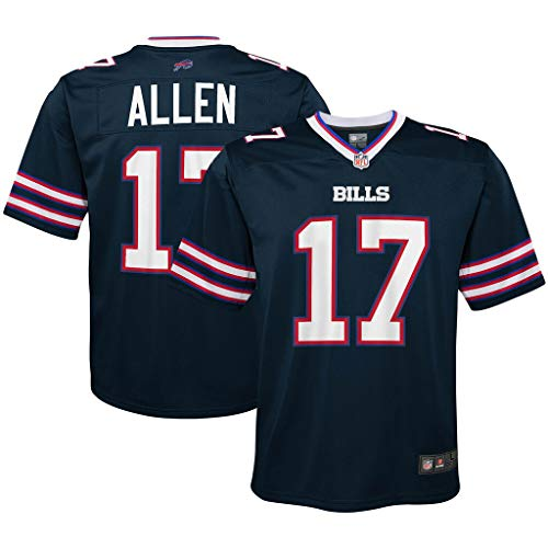 NFL Youth 8-20 Inverted Alternate Color Game Day Player Jersey (Josh Allen Buffalo Bills Navy, 18-20)