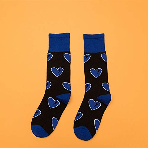 KSDDWZ Damen socken Frauen Flut socken Cartoon Blitz Liebe Happy Socks College Style Casual kniestrümpfe   blau