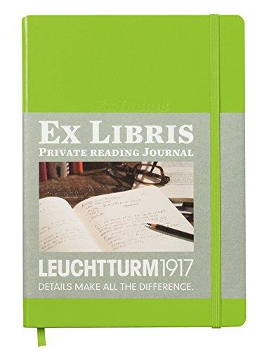 LEUCHTTURM1917 Ex Libris 342916 - Cuaderno de notas bibliográficas (A5), inglés, color verde