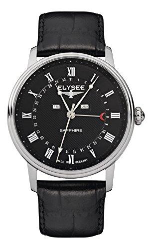 Elysee Unisex Erwachsene Analog Quarz Uhr mit Leder Armband 77001L