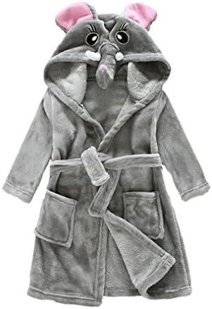 JZLPIN B/éb/é Encapuchonn/é Peignoirs de Bain des Gamins Flanelle Pyjamas Robe de Chambre pour Gar/çons Filles