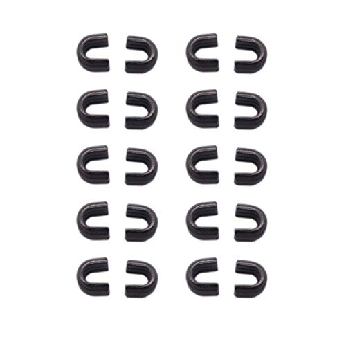 Warmsky 20pcs #5 Metal Zipper Top Stop (Dark Gray Color)