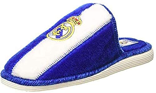 Andinas - Zapatillas de casa Real Madrid Oficial - Blanco-azul, 40