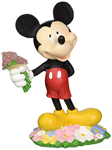 Design International Group Disney Mickey Mouse with Flower Bouquet Solar Statue