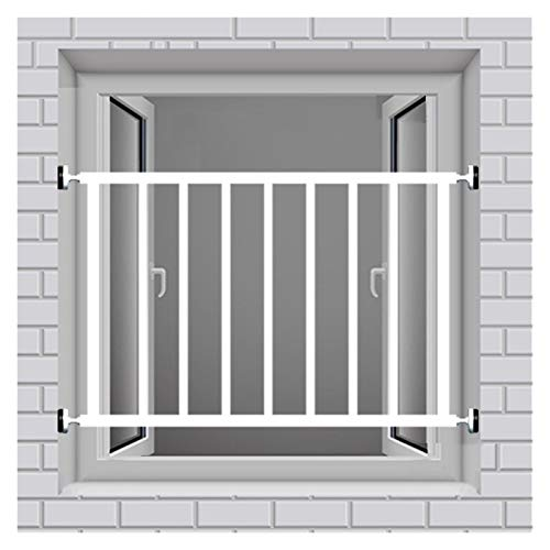 QIANDA Window Guard Security Bay Window Balcony Indoor And Outdoor Security Fall Protection Punch-free, Customizable (Color : Height 40cm, Size : L50cm)