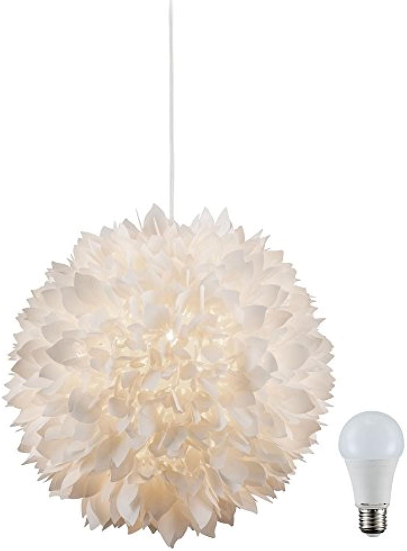 Pendel Leuchte Decken Hnge Lampe Blüten Kugel im Set inklusive 10 Watt LED Leuchtmittel