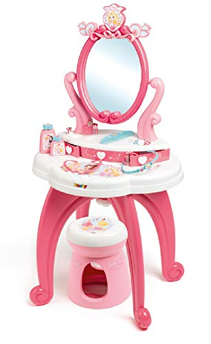 Smoby- Disney Princess Coiffeuse, Color Rose/Blanc (320222)