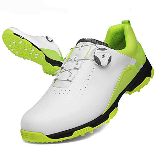 Aupast Zapatos de Golf para Hombres Zapatos de Golf Impermeables, Antideslizantes y Transpirables con Sistema de Cordones Boa