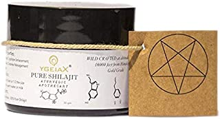 Shilajit fulvic Acid, Shilajit Resin, Authentic Shilajit, Himalayan Shilajit, 300 Servings- extracted by Ayurvedic Method- Harvested from 16000 altitudes in Himalayas by ygeiax- 30 GMS