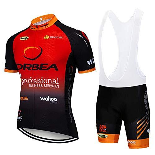 Conjunto Ropa Equipacion Traje Ciclismo Hombre para Verano, Maillot Ciclismo Hombre + Culotte Ciclismo Culote Bicicleta Maillot Verano Ciclismo Hombre