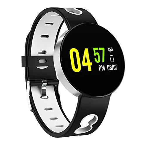 YNLRY Reloj inteligente para hombre con carcasa de aleación y presión arterial, resistente al agua, reloj inteligente para mujer, monitor de ritmo cardíaco, para Android IOS (color: X11 gris plateado)