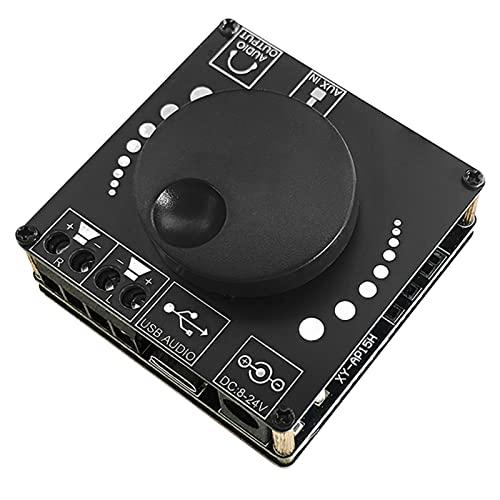 Tarjeta Amplificador Bluetooth 5,0, XY-AP15H Tarjeta Amplificador Bluetooth con Control De Alta Y Baja Tarjeta Amplificador De Audio 20w Dual Canal DC HiFi Canales Estéreo Amplificador De Audio