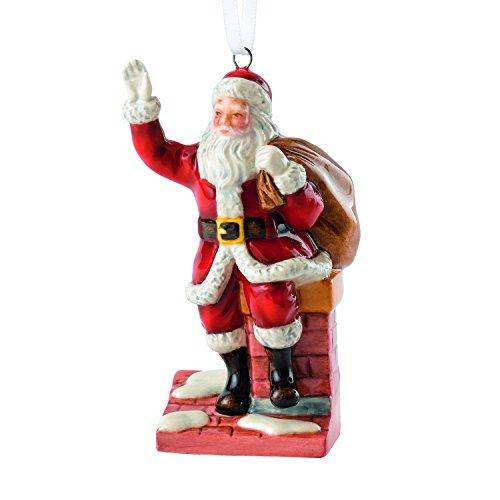 Royal Doulton 7,9cm Babbo Natale su Camino Ornamento