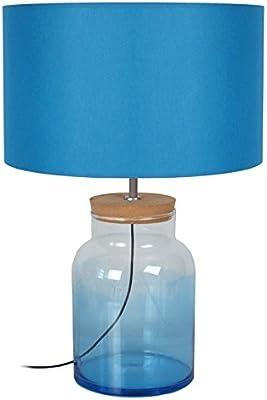 Tosel 64182 Curtius Medium, Verre Soufflé/Liégé/Coton, Bleu, 350 x 510 mm