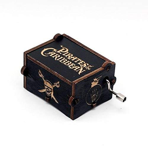 Terraberk Piraten der karibischen Handkurbel Geschnitzte hölzerne Spieluhr - Davy Jones