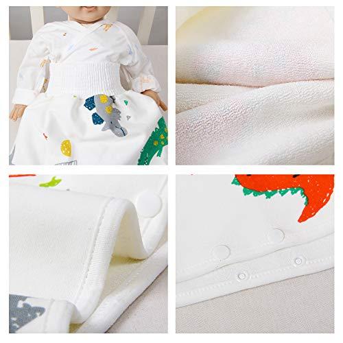 Delaspe Baby Windelrock Baumwolle Hohe Taille Kinder Windel Urinierrock Auslaufsicherer Bauchschutz Geeignet für Jungen Mädchen Trainingsrock